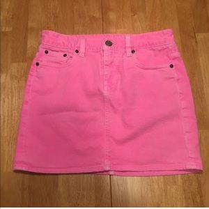 J.Crew Neon Pink Jean Skirt